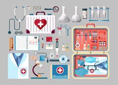 Stock Illustration of Set medician illustration