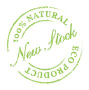 New Stock eco product stamp Stock Illustration