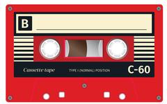 Vintage cassette tape Stock Illustration