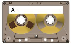 Vintage cassette tape Stock Illustration