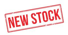 New Stock red rubber stamp on white - stock illustration