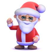 3d render of Santa Claus - stock illustration