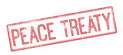 Peace Treaty red rubber stamp on white Stock Illustration