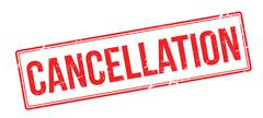 Cancellation red rubber stamp on white Stock Illustration