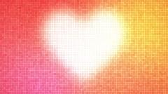 Heart glowing romantic background loop Stock Footage