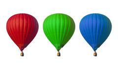 hot air balloons set - stock photo