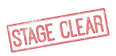 Stock Illustration of Stage Clear. Red rubber stamp on white
