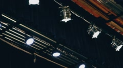 Light lighting in the theater ceiling concert Stock Footage