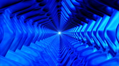 Broadcast Endless Hi-Tech Tunnel 24 - stock footage