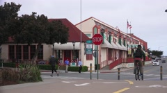 Shopping area near Monterey Bay Aquarium Stock Footage