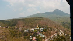 Clouds motion with shadows on ground - Myanmar time lapse 2 Stock Footage