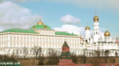 Grand Kremlin Palace and Cathedral of the Annunciation  in Moscow, Russia Stock Footage
