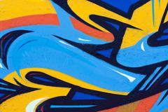 Urban abstract colorful graffiti on the wall Stock Illustration