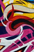 Abstract colorful urban street art background Stock Illustration