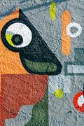 Stock Illustration of urban colorful abstract graffiti on the wall