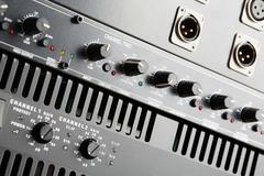 Power amplifier and equalizer - stock photo