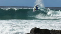 Slow motion surfer on the gold coast Stock Footage