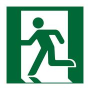Exit sign green Stock Illustration