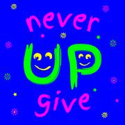 t-shirt never give up - stock illustration