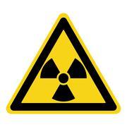 Radiation sign yellow Stock Illustration