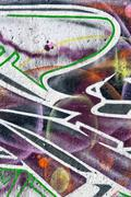 wall with graffiti - stock illustration