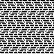 Wavy stripes seamless pattern - stock illustration