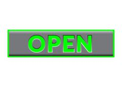 Open Sign Neon color Stock Illustration