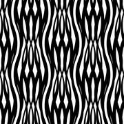abstract monochrome seamless pattern crossed vawes - stock illustration