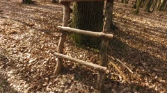 Box Hunting Stand In The Forest Stock Footage