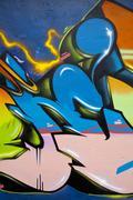 Grunge colorful graffiti background Stock Illustration