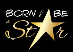 Stock Illustration of Born to be a star