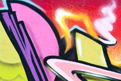 Multi colored graffiti wall Stock Illustration