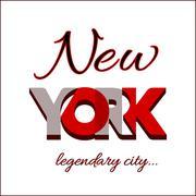 New York city Typography Graphic Piirros