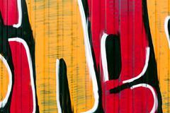 grunge graffiti wall - stock illustration