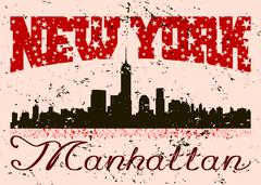 New York city Typography Graphic with grunge. Retro Stock Illustration