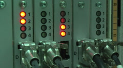 Working equipment in mobile switching center Stock Footage