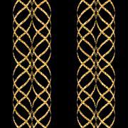 Arabic gold seamless pattern wave Stock Illustration