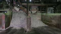 Crushing and packing iron Stock Footage