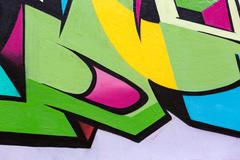 colorful urban graffiti wall background - stock illustration