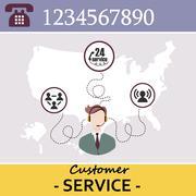 Customer Service Call Center Stock Illustration