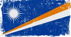 Marshall Islands Vector Flag on White Stock Illustration