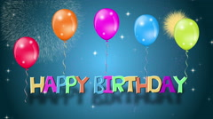 Happy Birthday, celebration or other events. 4K animation. - stock footage