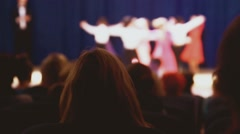Ballroom dancing spectators people watching concert sitting in hall Stock Footage