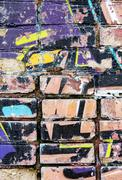 old graffiti wall - stock illustration