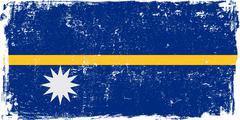 Nauru Vector Flag on White Stock Illustration