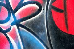 Abstract street art graffiti Stock Illustration