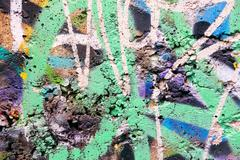 Green painted concrete wall Stock Illustration
