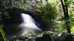 Natural bridge at springbrook national park Stock Footage