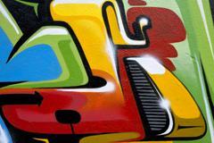 Stock Illustration of urban street art design background