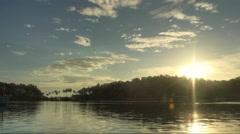 Timelapse of sunset in Thailand, Bang Bao fisherman village. Stock Footage